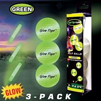 3 Pack Of Green Glow Flyer Golf Balls by Windy City Novelties: Amazon.es: Juguetes y juegos