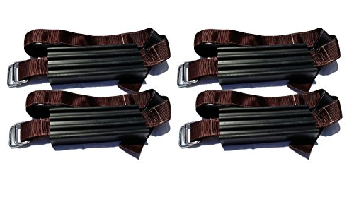 Trac-Grabber - Snow, Mud and Sand Tire Traction Device for Oversize Trucks, SUVs - Set of 4 - A Chain, Snow Tire Alternative That Helps You Get Unstuck - Easy Install Blocks Strap To Vehicle Tires