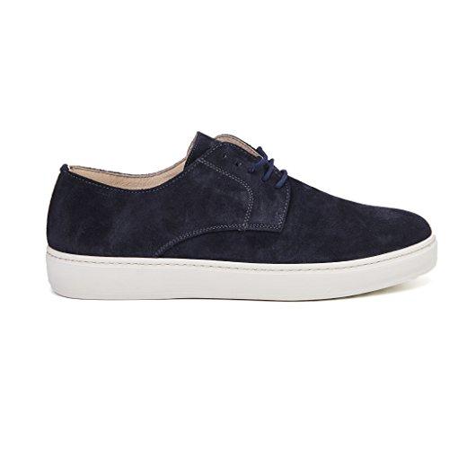 scarpe stringate sportive FRAU fondo cassetta gomma camoscio colore blu