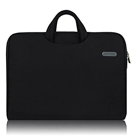 Arvok 17 17.3 Inch Water-resistant Canvas Fabric Laptop Sleeve With