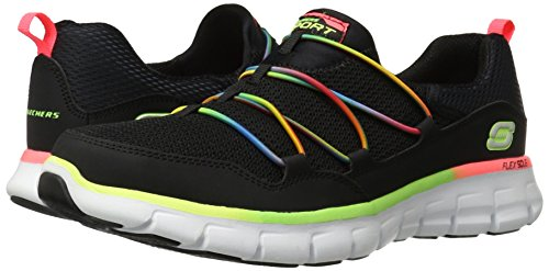 Skechers Sport Women's Loving Life Memory Foam Fashion Sneaker,Black/Multi,9 M US