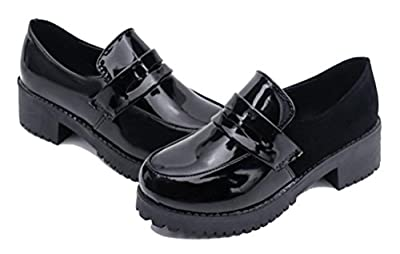Women's Girl's Low Top Japanese Students Maid Uniform Dress Shoes Oxford Shoes