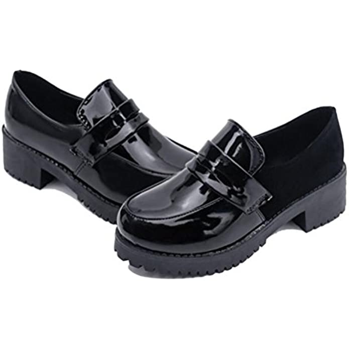 Women's Loafer Shoes Girl's Low Top Japanese Students Maid Uniform Dress Oxford Shoes