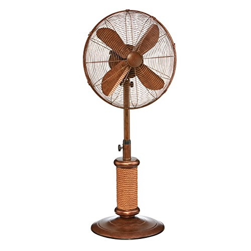 Umbrella Accents (DecoBREEZE Adjustable Height Oscillating Outdoor Pedestal Fan, 18 In, Nautica)