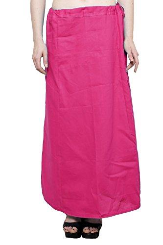 Readymade de algodón de las mujeres indio inskirt Saree petticoats enaguas–talla única Fuscia