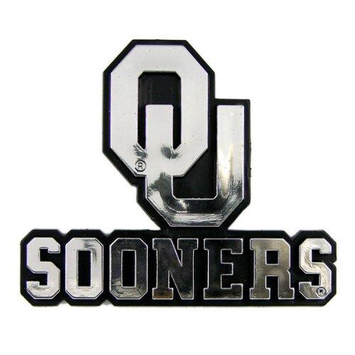 NCAA Oklahoma Sooners Chrome Automobile Emblem