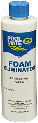 Pool Mate 1-2470SPA-02 Foam Away for Spas and Hot Tubs (2 Pack), 1 pint by Pool Mate