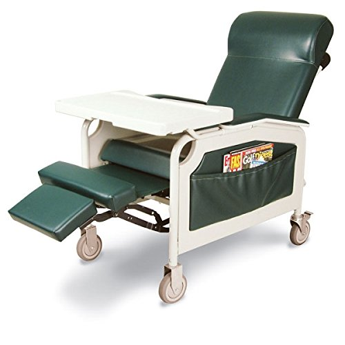 Winco 5251 Convalescent Patient Care Comfort Treatment Recliner with Tray