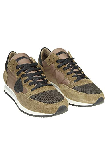 Philippe Model Uomo Camoscio Verde Sneakers Trluw067 wwTqRn0r