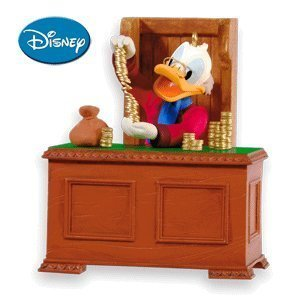 2010 Hallmark Ornament - QX8406 Scrooge McDuck as Ebenezer Scrooge Mickey's Christmas Carol #2 In Series 2010 Hallmark Ornament