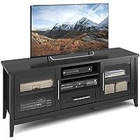 CorLiving TJK-603-B Jackson TV Bench, 65, Black Wood Grain