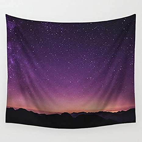Amazon.com : Tomeco Psychedelic Starry Polyester Tapestry ...