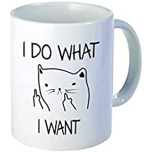 I do what I want, cat face - 11OZ ceramic coffee mug - Best funny and inspirational gift by Whoisyourdaddy