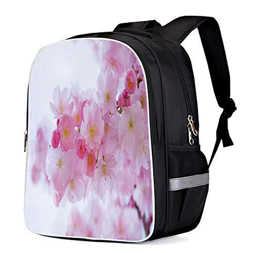 Peach Blossoms Bloom 3D Digital Printing Print Durable Casual Backpack Back to School Book Bag