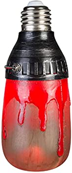 GEMMY LIGHTSHOW HALLOWEEN Bloody Red Short Circuit Bulb FLICKERING LIGHT EFFECT!