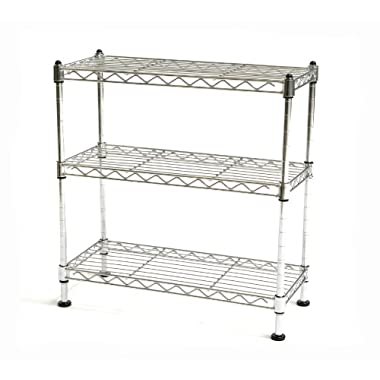 Seville Classics 3 Shelf Cabinet Organizer, 17.5 by 7.5 by 18.5-Inch, Steel Wire