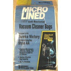 Micro Lined Anti-Bacterial Vacuum Cleaner Bags: Style AA, 3-Pack - Aa Micro Bags