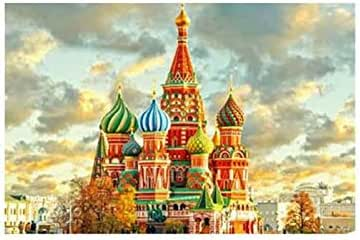 1000 Pieces Wooden Jigsaw Puzzle Oil Painting vassili cathedral