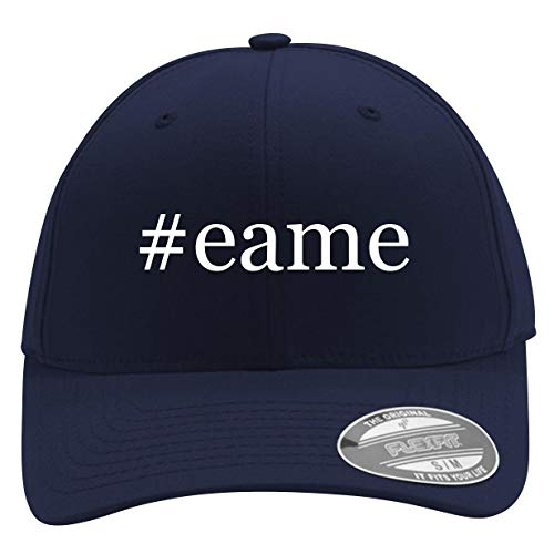 #EAME - Men's Hashtag Flexfit Baseball Cap Hat, Dark Navy, Large/X-Large