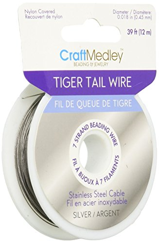 Tiger Tail Beading Wire 7-Strand .45mm 39ft/Pkg-Silver