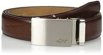 Greg Norman Men's Optimum Comfort Fit Adjustable Ratchet Belt, Brown One Size