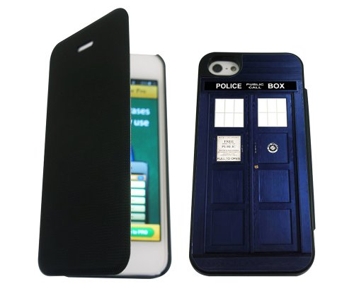iphone 5 5S Doctor Who Tardis Police Call Box Stil Designer Brieftasche Hülle pouch Flip Cover Shockproof Defender Case