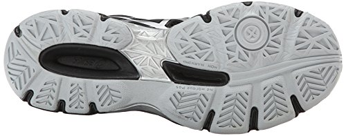 ASICS Women's Gel Netburner Ballistic MT Volleyball Shoe, Black/Silver, 7 M US by ASICS (Image #3)