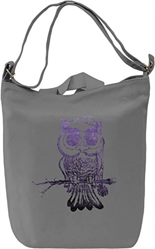 Night Owl Borsa Giornaliera Canvas Canvas Day Bag| 100% Premium Cotton Canvas| DTG Printing|