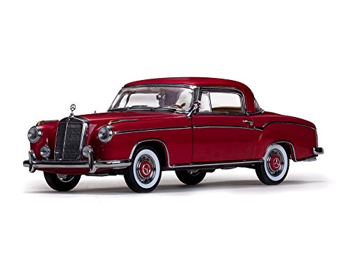 1958 Mercedes 220SE 220 SE Coupe Red 1/18 Diecast Model Car by Sunstar 3563