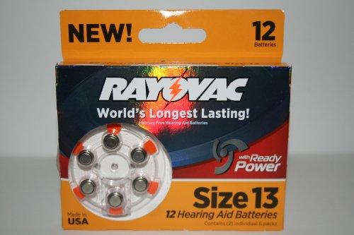 Rayovac Hearing size batteries L13ZA 12ZMH