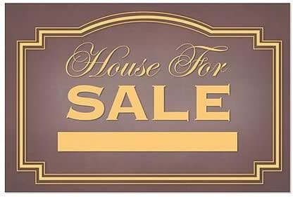 Victorian Card Window Cling House for Sale 16x16 5-Pack CGSignLab
