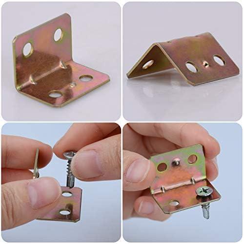Soportes angulares de acero inoxidable de 50 piezas Conector angular de 90 grados 20 mm x 20 mm x 25 mm Soporte de soporte de 600 kg resistente//Soporte de esquina en forma de L