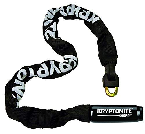 Kryptonite Keeper 785 Integrated Bicycle Lock Chain Bike Lock, 33.5-Inch, Black (Best Bike D Lock)