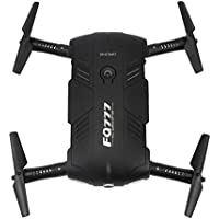 Owill FQ777 FQ05 6 Axis Gyro 2.0MP Wifi FPV Drone Camera Selfie Foldable Quadcopter With Two Battery (Black)