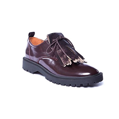 Rock Armistice Patent Up Bordeaux Flats Caoutchouc Black Women's Lace Armistice W Sole Derby r0rxEXPq
