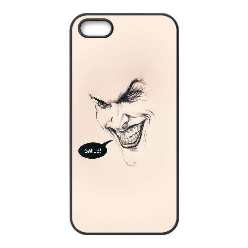 V2Z11 Joker Batman Sourire plat E1U3YY Minimal coque iPhone 4 4s cellulaire cas de téléphone couvercle coque noire KJ1HRR1BU