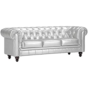 High Quality Zuo Modern Aristocrat Sofa, Silver