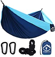 oaskys Camping Hammock Double with 2 Tree Straps Made of Portable Lightweight Nylon Parachute for...