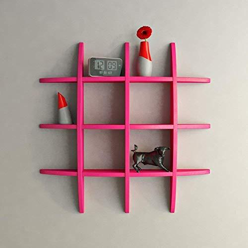 Amaze Shoppee MDF Globe Shape Wall Shelves  Pink