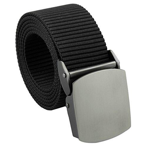 Review squaregarden Men's Nylon Webbing Military Style Tactical Duty Belt