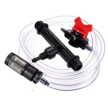 3/4 Inch Irrigation Venturi Fertilizer Injectors Device Filter Kit Tube^. (Nozzle System Injector)