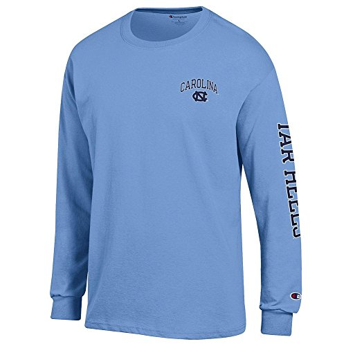 (Elite Fan Shop North Carolina Tar Heels Long Sleeve Tshirt Letterman Blue -)