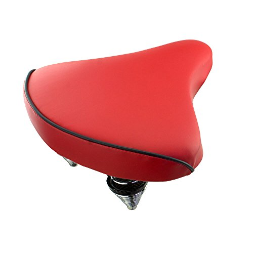 - Fenix Beach Cruiser Vinyl Bike Saddle, (Red)