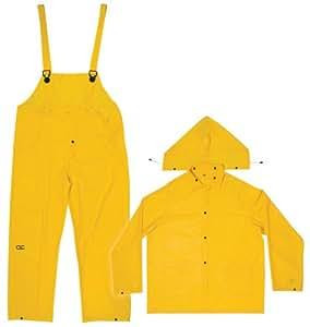 CLC Rain Wear R1102X .20 MM Yellow 3-Piece Rain Suit, 2XLarge