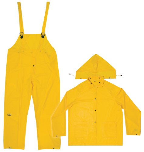 [CLC Rain Wear R110M .20 MM Yellow 3-Piece Rain Suit, Medium] (Fisherman Costume)