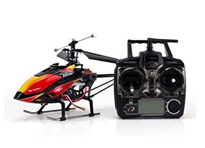 Red and Black Cool Wltoys V913 Large Alloy 70cm 2.4G 4CH RC Remote Control Helicopter with Gyro by WL Toys