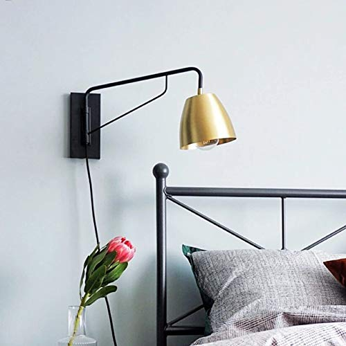 Postmodern Loft Bedside Wall Lamp Creative Art Copper Research Restaurant Hotel Bedroom Wall Lighting