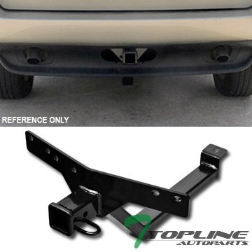 Topline Autopart Class 3 III Black 2' Rear Bumper Trailer Tow Hitch Towing Mount Receiver Tube For 00-06 BMW E53 X5 Topline_autopart