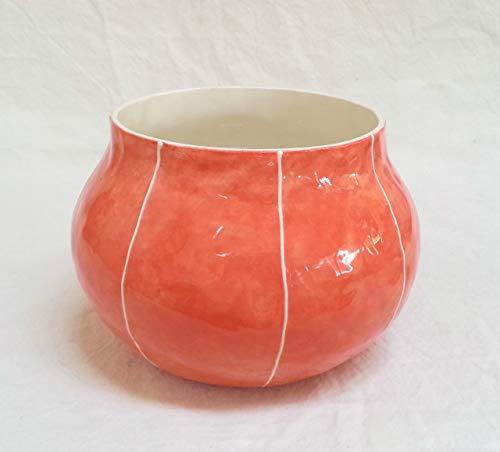 VIT ceramics bowl vase by Kri Kri Studio. Round planter for 4 to 6