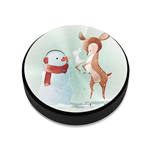 Magnetic Mount,Cute Deer Building Snowman Magnetic Car Mount Phone Holder Cell Phone Holder Mount Smartphone Car Mount Holder
